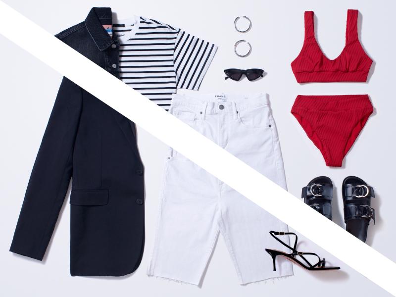 Собираем 2 образа с белыми шортами: Уроки стритстайла
