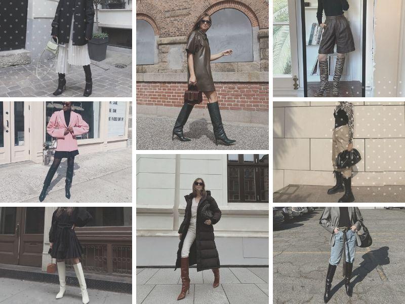 С чем носить высокие сапоги? 32 стильных образа от инсайдеров уличного стиля
