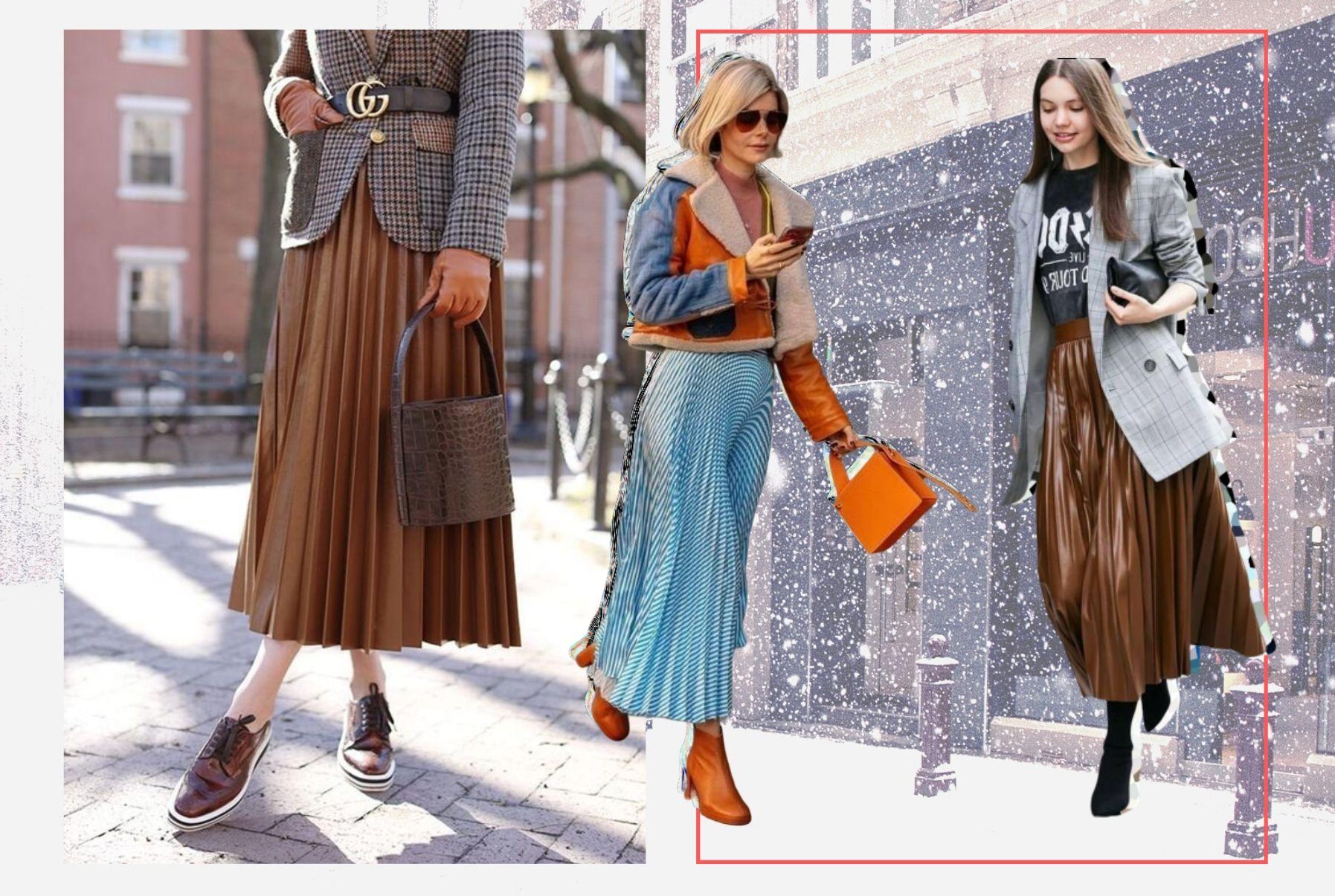 С чем носить юбку плиссе в новом сезоне: Тренды уличного стиля 2020
