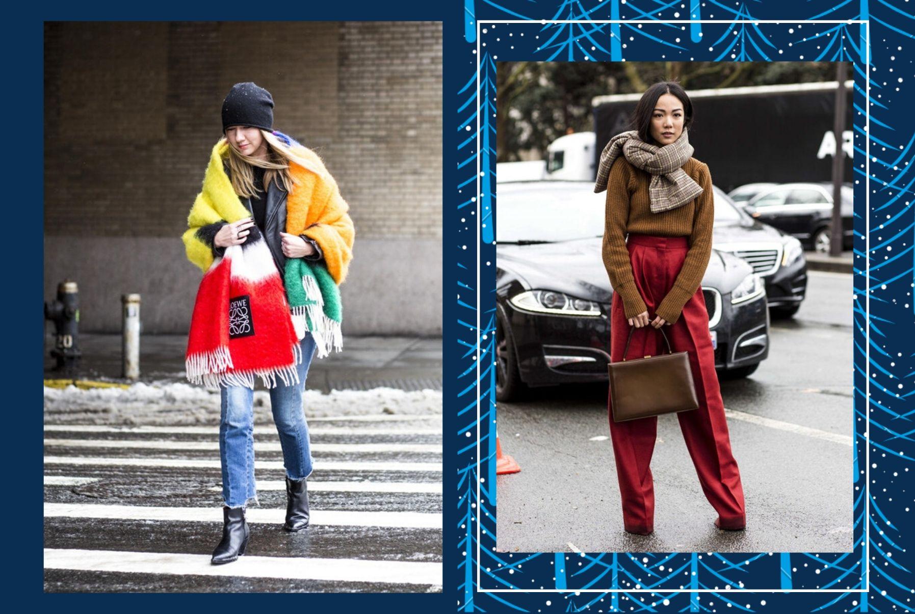 7 стильных, новых способов носить шарф в 2020