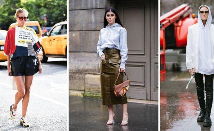 С чем носить кожу в 2020 году — 14 модных образов от звезд уличного стиля