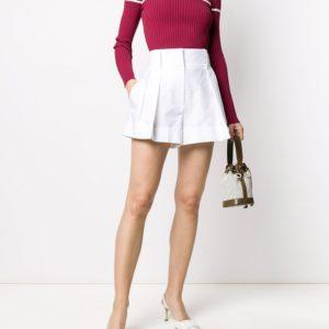VALENTINO шорты с завышенной талией и выточками