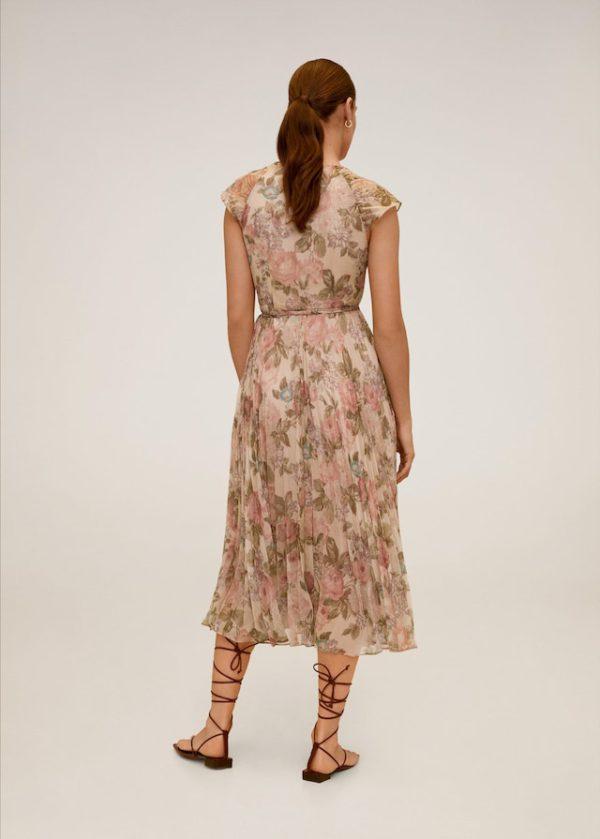 Миди-платье с цветочным принтом