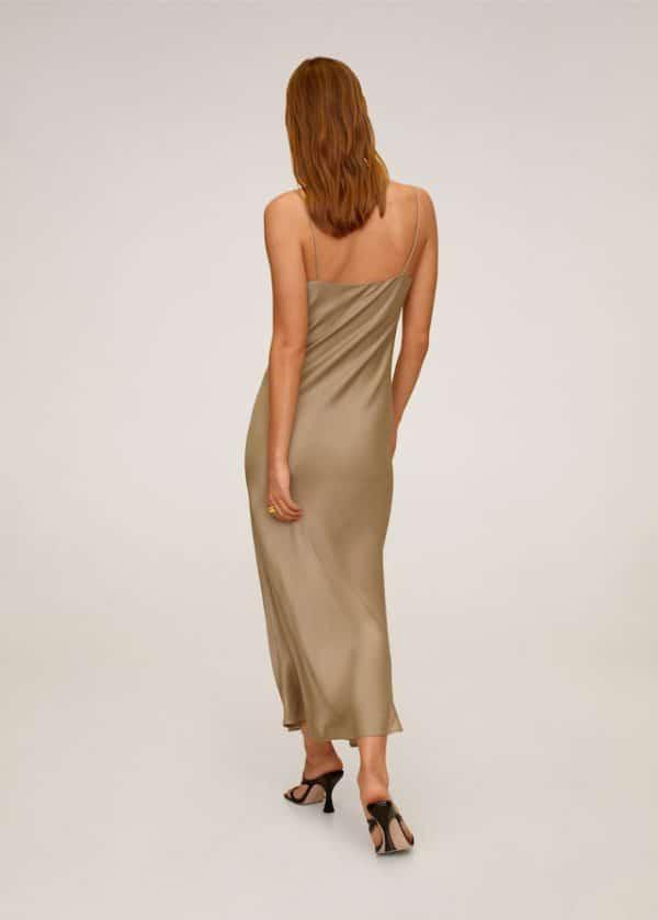 Платье с драпированной горловиной