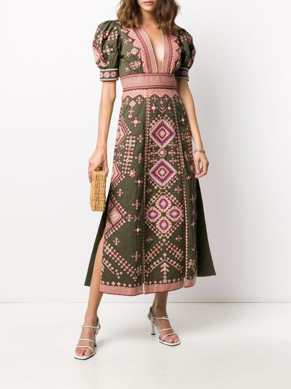Платье Amaria с вышивкой ULLA JOHNSON