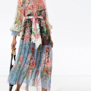 Платье макси Bellistude с цветочным принтом ZIMMERMANN