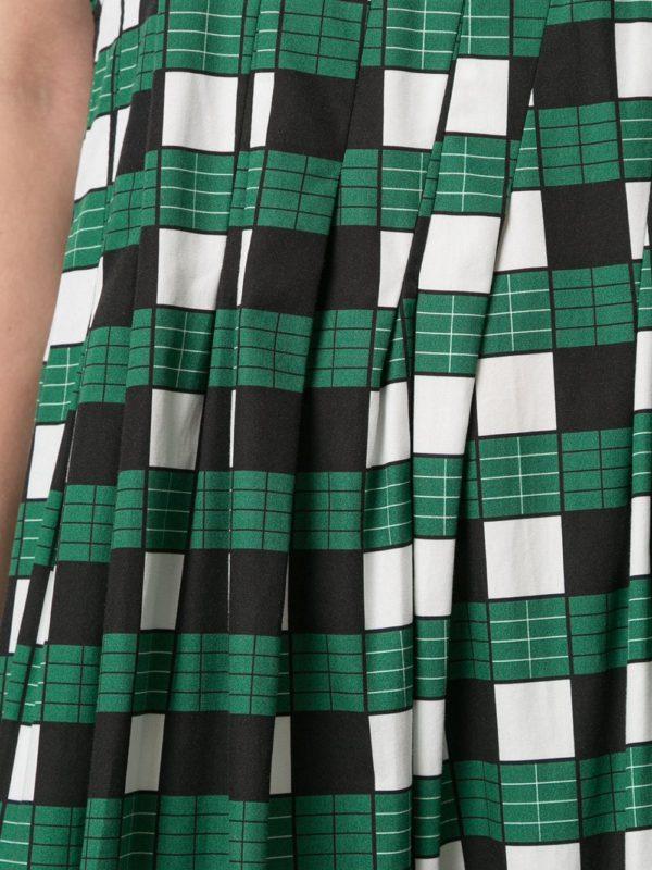 Расклешенное платье в клетку PLAN C