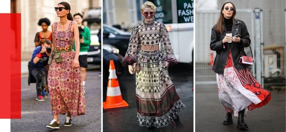 Платья с принтом, напоминающим обои — Тренд сезона лето 2020