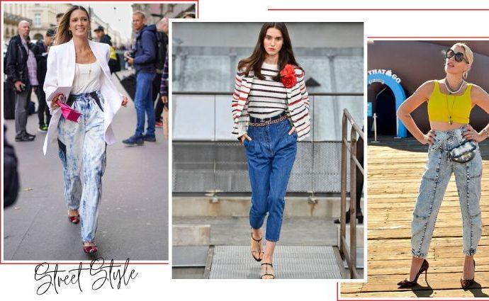 Джинсы-морковки - новейший джинсовый тренд уличной моды 2020