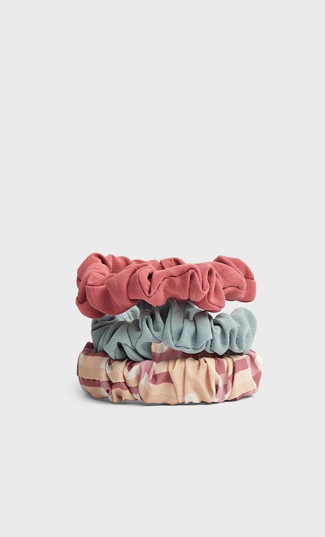 Набор Из 3 Резинок Для Волос С Принтом Женская Коллекция Розовый 103
