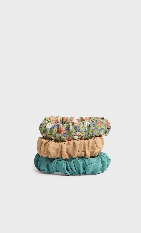 Набор Из 3 Резинок Для Волос С Принтом Женская Коллекция Зеленый 103