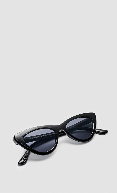 Солнечные Очки В Оправе «Кошачий Глаз» Женская Коллекция Черный 103