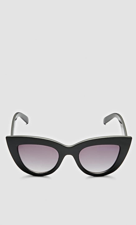 Большие Солнечные Очки Формы «Кошачий Глаз» Женская Коллекция Черный 103