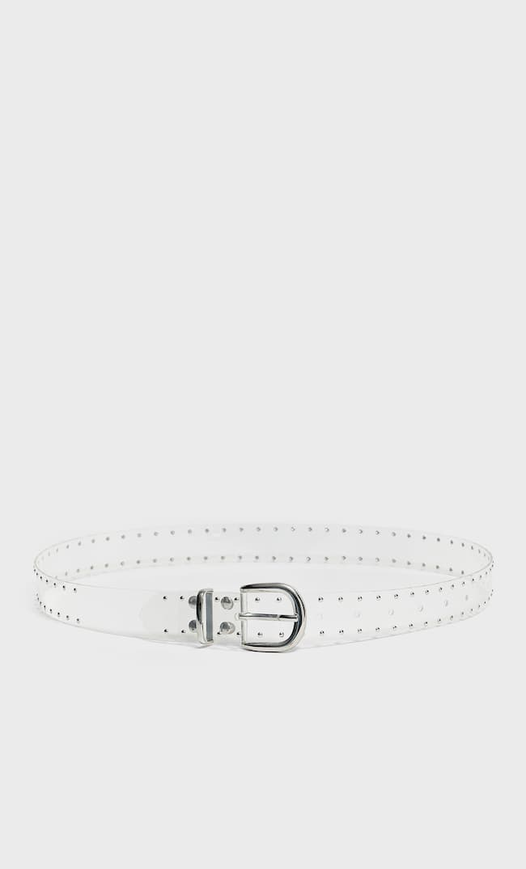 Прозрачный Ремень С Заклепками Женская Коллекция Серый 80