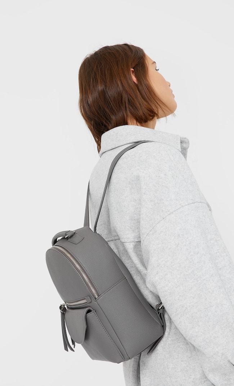 Рюкзак С Молнией Женская Коллекция Серый 103