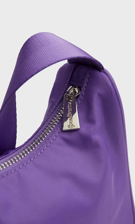 Сумка Из Ткани С Плечевым Ремнем Женская Коллекция Пурпурный 103