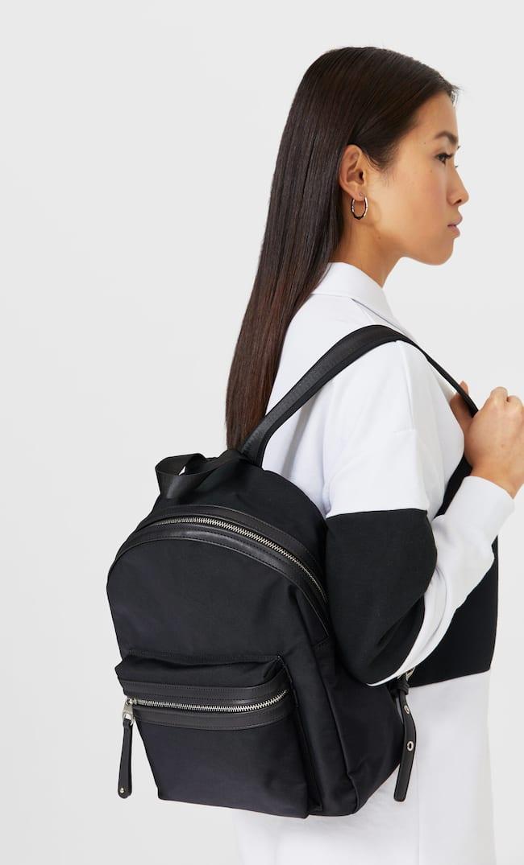 Рюкзак Из Ткани Женская Коллекция Черный 103