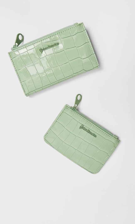 Лакированный Кошелек Женская Коллекция Зеленый 103