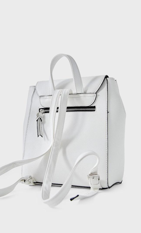 Рюкзак С Застежкой Женская Коллекция Белый 103