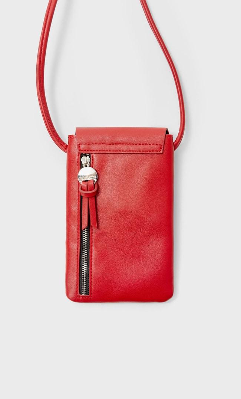 Сумка Для Смартфона С Плечевым Ремнем Женская Коллекция Красный 103
