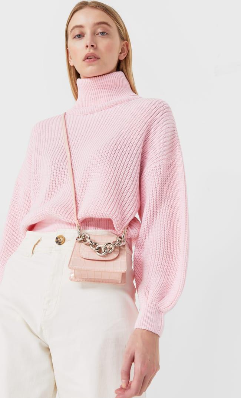 Мини-Сумка С Цепочкой Женская Коллекция Цвет Розового Макияжа 103