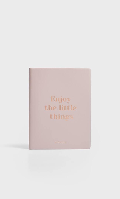 Ежедневник С Надписью Enjoy Женская Коллекция Цвет Розового Макияжа 103