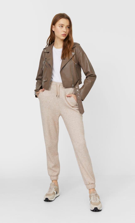 Базовая Куртка Из Искусственной Кожи С Ремнем Женская Коллекция Multicolor M