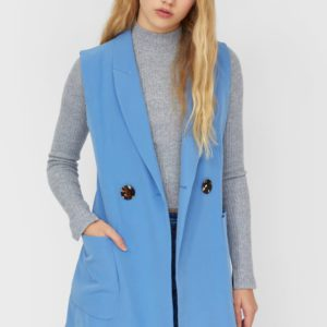 Платье-Жилет Женская Коллекция Синий S