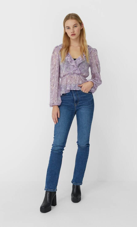 Блуза С Принтом Женская Коллекция Multicolor M