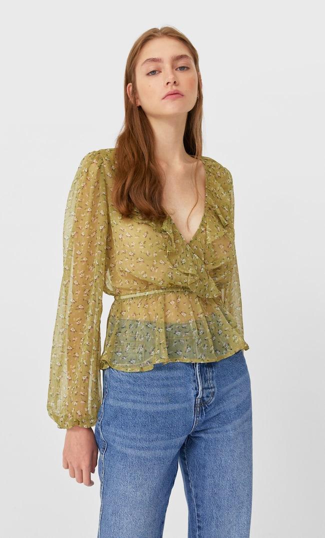 Блуза С Принтом Женская Коллекция Multicolor S