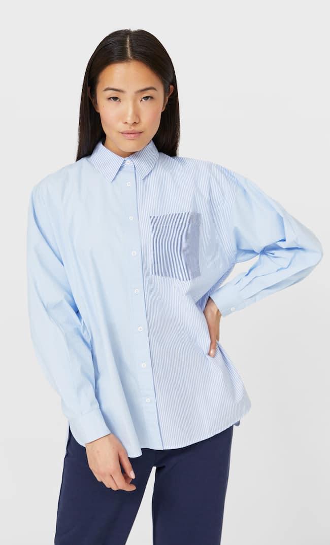 Рубашка В Стиле Бойфренд Женская Коллекция Небесно-Голубой L