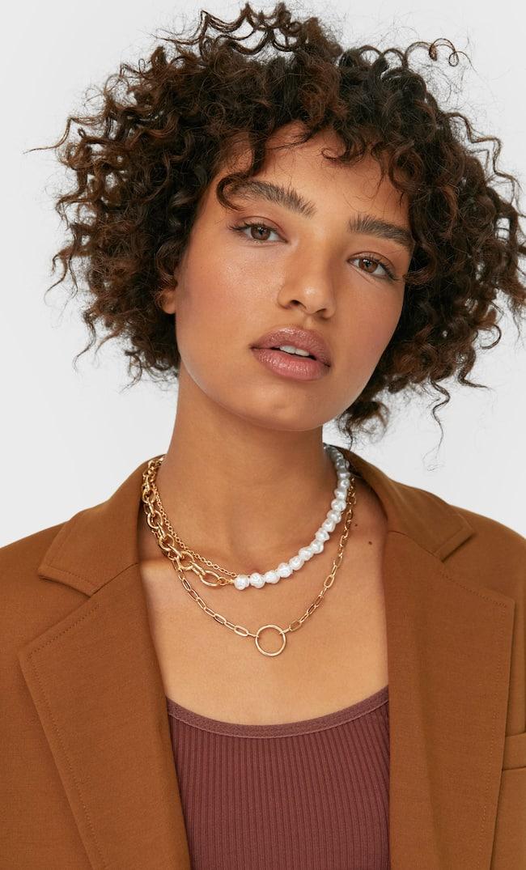 Набор Из 3 Ожерелий С Бусинами-Жемчужинами Женская Коллекция Желтый 103