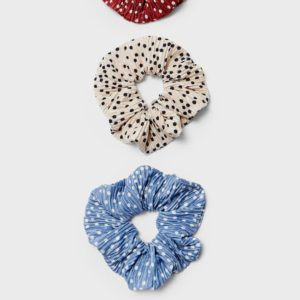Набор Из 3 Резинок Для Волос, В Горошек Женская Коллекция Небесно-Голубой 103