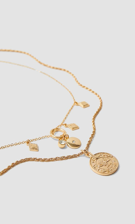 Набор Из 5 Ожерелий Женская Коллекция Желтый 103