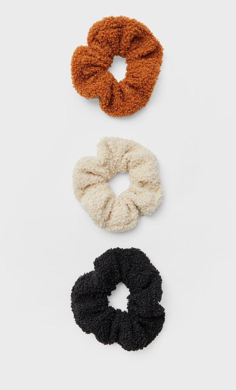 Набор Из 3 Ворсистых Резинок Для Волос Женская Коллекция Черный 103