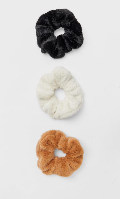 Набор Из 3 Широких Резинок Для Волос Женская Коллекция Черный 103