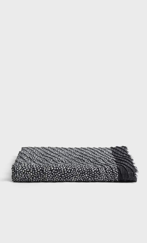Плиссированный Платок В Горошек Женская Коллекция Черный 103