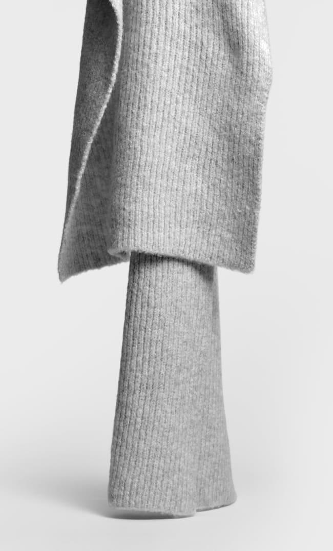 Трикотажный Шарф Женская Коллекция Пестро-Серый 103