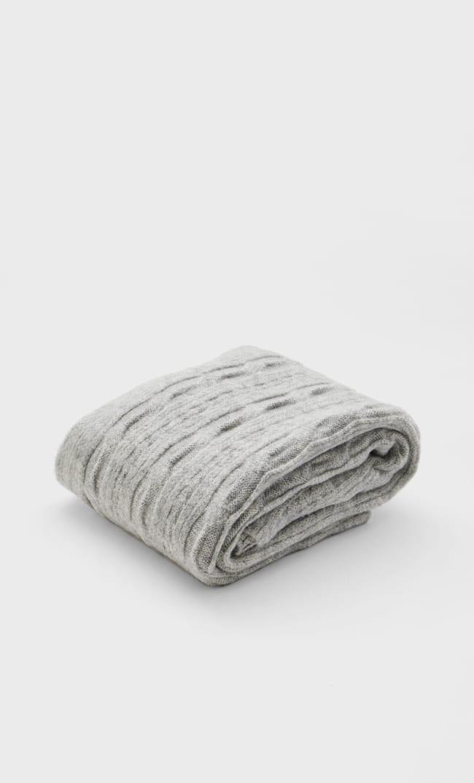 Шарф С Узором «Косы» Женская Коллекция Жемчужно-Серый 103