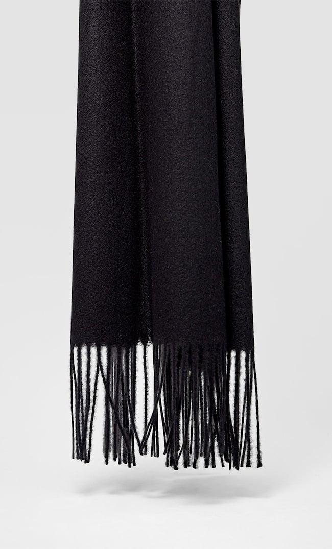Шарф Из Мягкой Ткани Женская Коллекция Черный 103