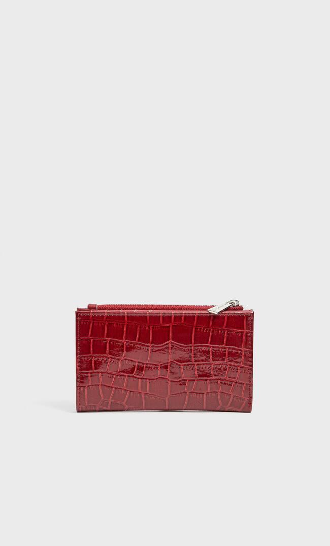 Базовый Лакированный Кошелек Женская Коллекция Красный 103