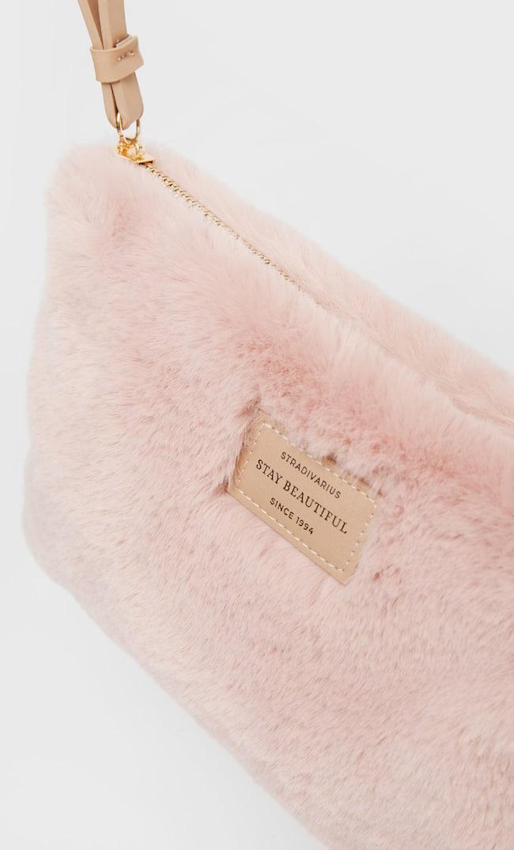 Клатч С Искусственным Мехом Женская Коллекция Цвет Розового Макияжа 103