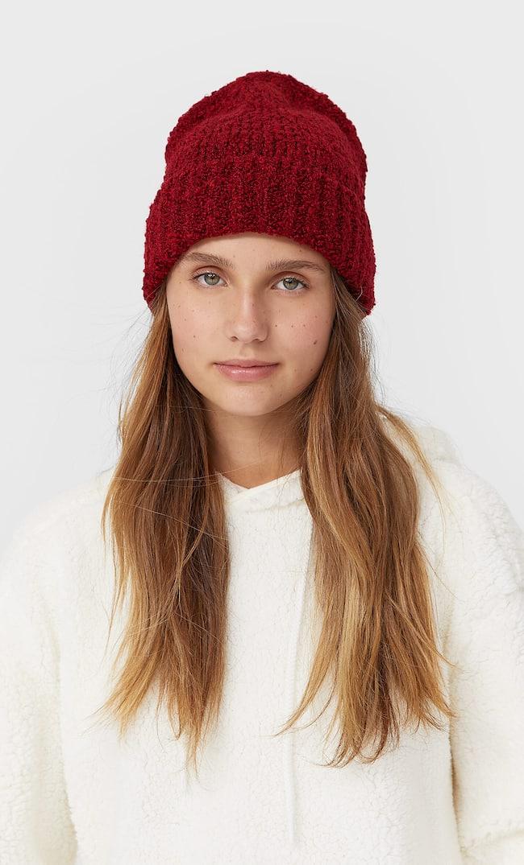 Трикотажная Шапка Женская Коллекция Красный 103