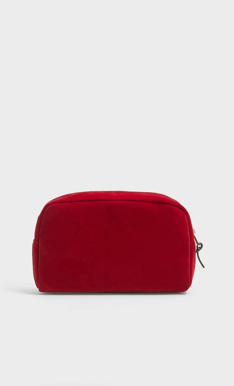 Бархатная Косметичка Женская Коллекция Красный 103