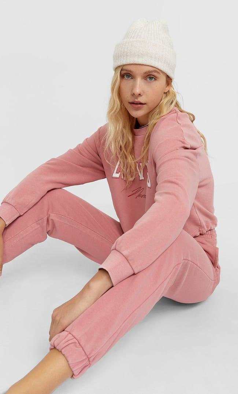 Брюки Джоггеры Женская Коллекция Пастельно-Розовый L