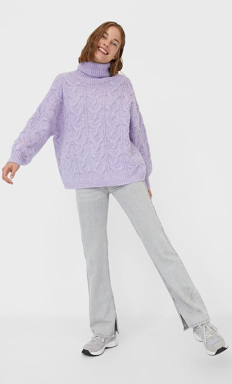 Свитер Из Валяной Пряжи С Узором «Косы» Женская Коллекция Multicolor Xs