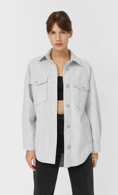 Трикотажная Куртка Оверсайз Женская Коллекция Пестро-Серый S