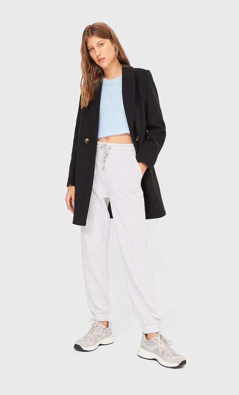 Базовое Пальто Женская Коллекция Черный Xs