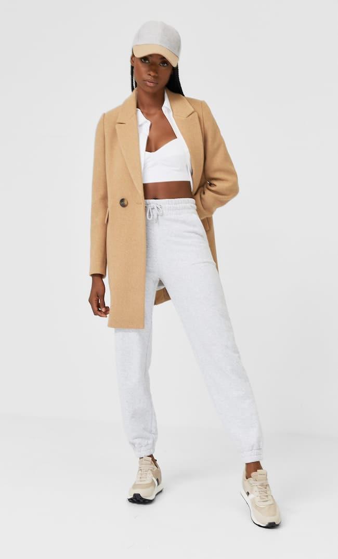 Базовое Пальто Женская Коллекция Бежевый S