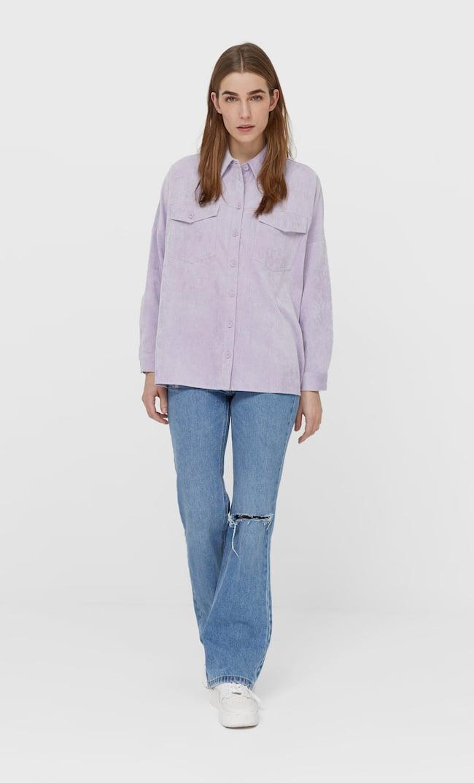 Вельветовая Плотная Рубашка Женская Коллекция Multicolor S